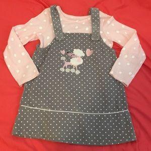 Corduroy Poodle dress set